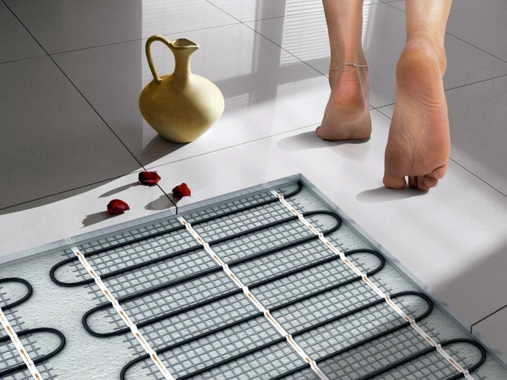 Теплые полы в ванну своими руками